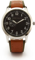 Perry Ellis Tan Leather Watch