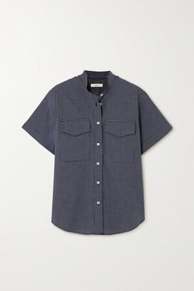 MATIN Checked Cotton-poplin Shirt - Black