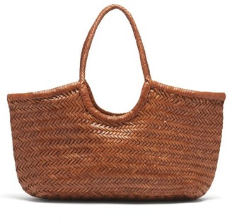 DRAGON DIFFUSION Nantucket Large Woven-leather Tote Bag - Tan