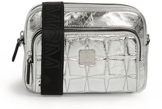 MCM Leather Metallic Klassik Cross-Body Bag