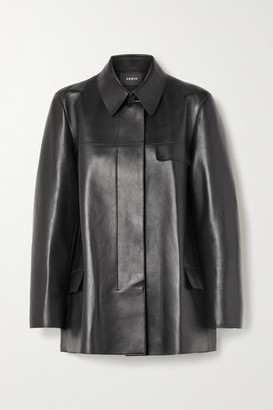 Akris Leather Jacket - Black