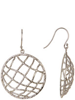 Argentovivo Sterling Silver Circle Caged Drop Earrings