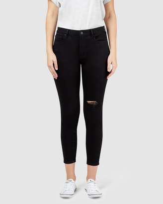 Jeanswest Isabelle Distressed Curve Embracer Skinny 7/8th