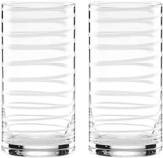 Kate Spade Charotte High Ball Glasses