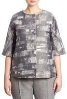 Marina Rinaldi, Plus Size Fresia Printed Jacquard Jacket
