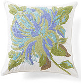 Southern Living In Bloom Collection Flora Flower-Embroidered Square Pillow