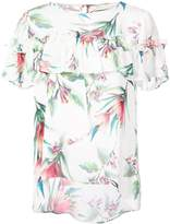 Nicole Miller floral print frill top