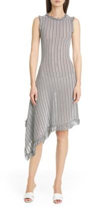 Oscar de la Renta Asym-Hem Day Dress