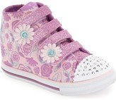 Skechers 'Twinkle Toes - Chit Chat' Light-Up High Top Sneaker (Walker & Toddler)