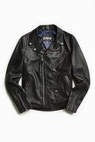 Schott X UO Stonewashed Pebbled Leather Perfecto Jacket