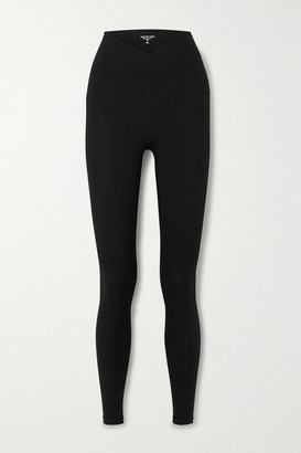 YEAR OF OURS Veronica Ribbed Stretch Leggings - Black