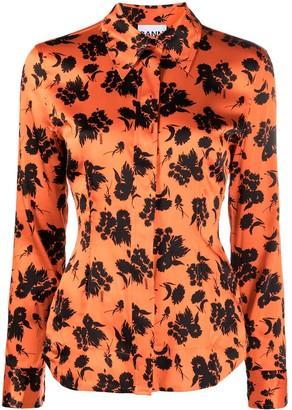 Ganni Floral Print Tailored Shirt