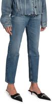 Balenciaga High-Rise Cropped Slim-Leg Jeans