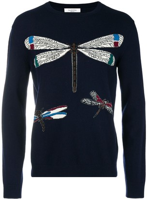 Valentino Dragonfly Knit Sweater