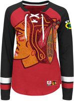 Majestic Women's Chicago Blackhawks Hip Check Long Sleeve T-Shirt