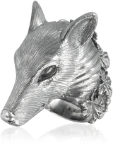Ugo Cacciatori Sterling Silver Wolf Ring