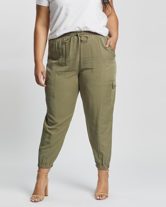 Atmos & Here Atmos&Here Curvy - Women's Green Pants - Autumn Tencel Relaxed Joggers - Size 18 at The Iconic