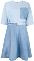 MAISON KITSUNÉ flared denim dress - women - Cotton - 40