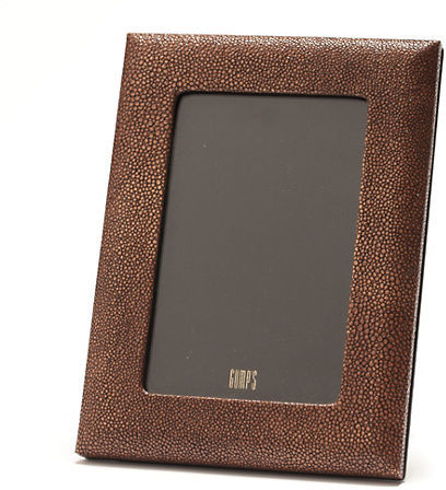 Gump's Graphic Image Shagreen Leather 4x6 Frame