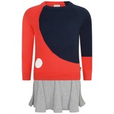 Paul Smith JuniorGirls Red & Grey Knitted Phelis Dress