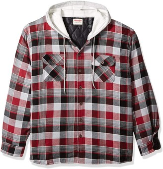 Wrangler Men's Big-tall Authentics Big & Tall Quilted Lined Flannel Shirt Jacket