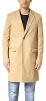 Calvin Klein Collection Largo Compact Cotton Twill Overcoat