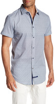 English Laundry Short Sleeve Regular Fit Print Woven Shirt