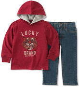 Lucky Brand Red Hoodie & Blue Jeans - Infant, Toddler & Boys