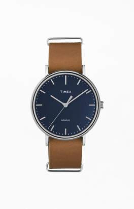 Timex Brown Fairfield Leather Strap Watch