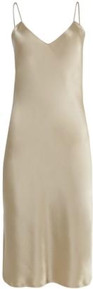 Nili Lotan Beige Satin Camisole Dress