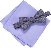 Alfani Spectrum Men's Pleasant Vine Pre-Tied Bow Tie and Pocket Square Set, Only at Macy's