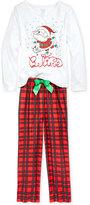 Sleep On It 2-Pc. Believe Santa Pajama Set, Little Girls (2-6X) & Big Girls (7-16)