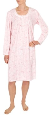 Miss Elaine Plus Size Brushed Honeycomb Nightgown