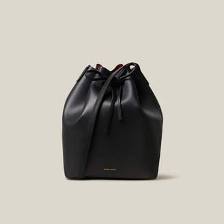 Mansur Gavriel Black Leather Bucket Bag One Size