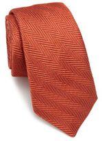 Ike Behar Chevron Silk Tie
