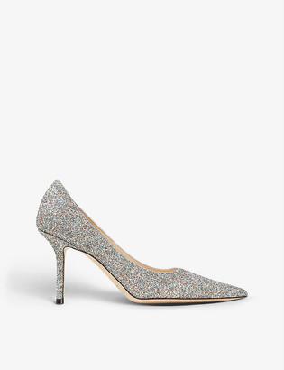 Jimmy Choo Love 85 heeled glitter courts