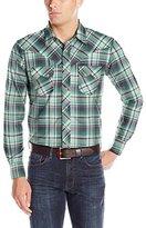 Wrangler Men's Western Long Sleeve Woven Snap Jean Shirt