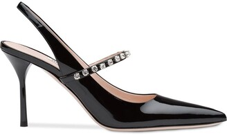 Miu Miu Patent leather slingbacks