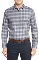 Robert Barakett Men's Alphonse Plaid Sport Shirt