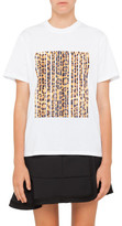 Alexander Wang Boxy Crew Neck T-Shirt With Leopard Barcode