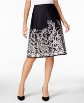 Charter Club Cotton Print Skirt, Only at Macy's