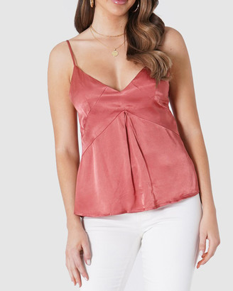 Amelius - Women's Red Sleeveless Tops - Dita Cami - Size One Size, 6 at The Iconic