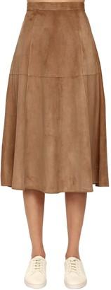 S Max Mara Suede A Line Skirt