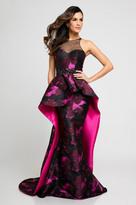 Terani Couture 1723E4304 Illusion Halter Neck Sheath Dress