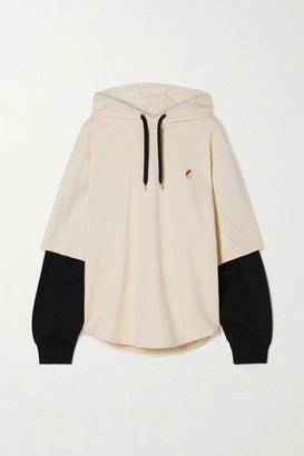 P.E Nation Full Court Oversized Printed Organic French Cotton-terry Hoodie - Off-white