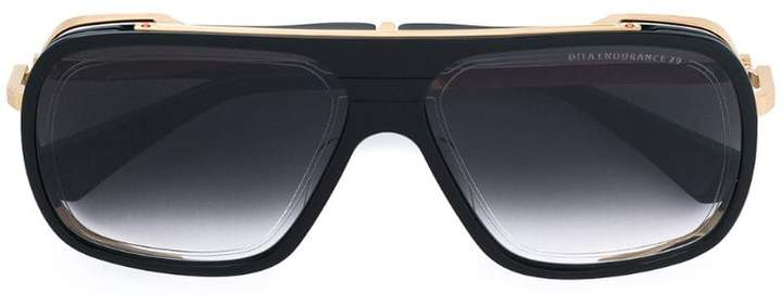 Dita Eyewear gold trim oversized sunglasses