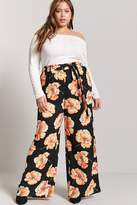 Forever 21 Plus Size Floral Wide-Leg Pants