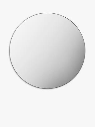 Unbranded Bowie Round Metal Frame Mirror, 80cm