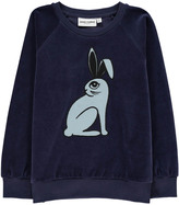 Mini Rodini Organic Velour Bunny Sweatshirt