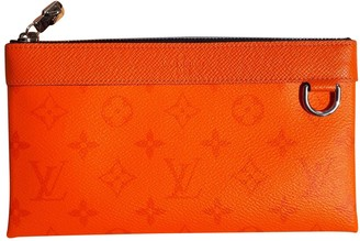 Louis Vuitton Orange Leather Handbags